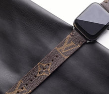 Load image into Gallery viewer, Brown LV monogram Apple Watch band