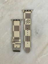 Load image into Gallery viewer, White LV Damier Apple Watch band