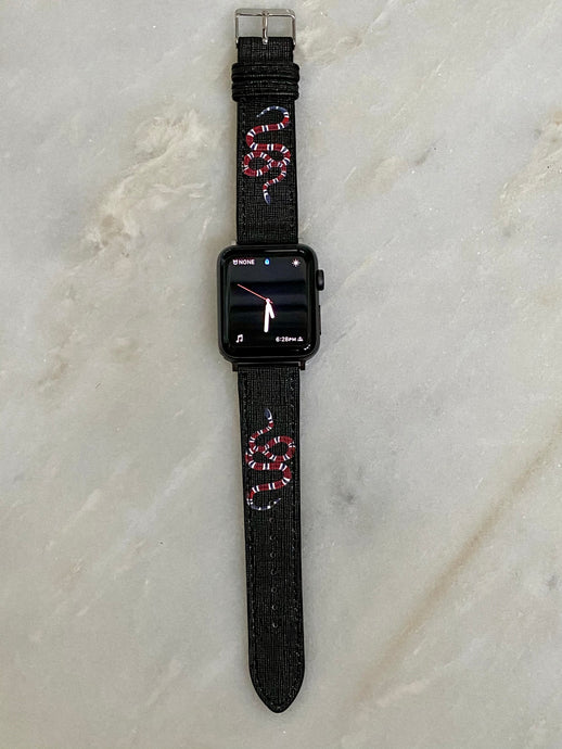 OG Black Gucci snake Apple Watch band