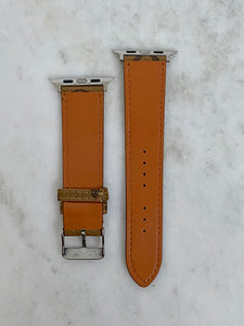 Brown Reverse Monogram LV Apple Watch band
