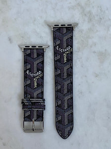 Goyard Black Apple Watch band