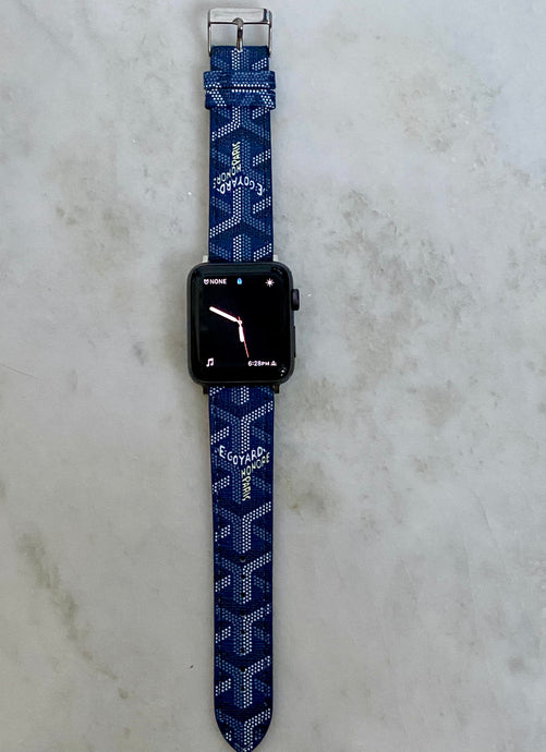 Goyard Blue Apple Watch band