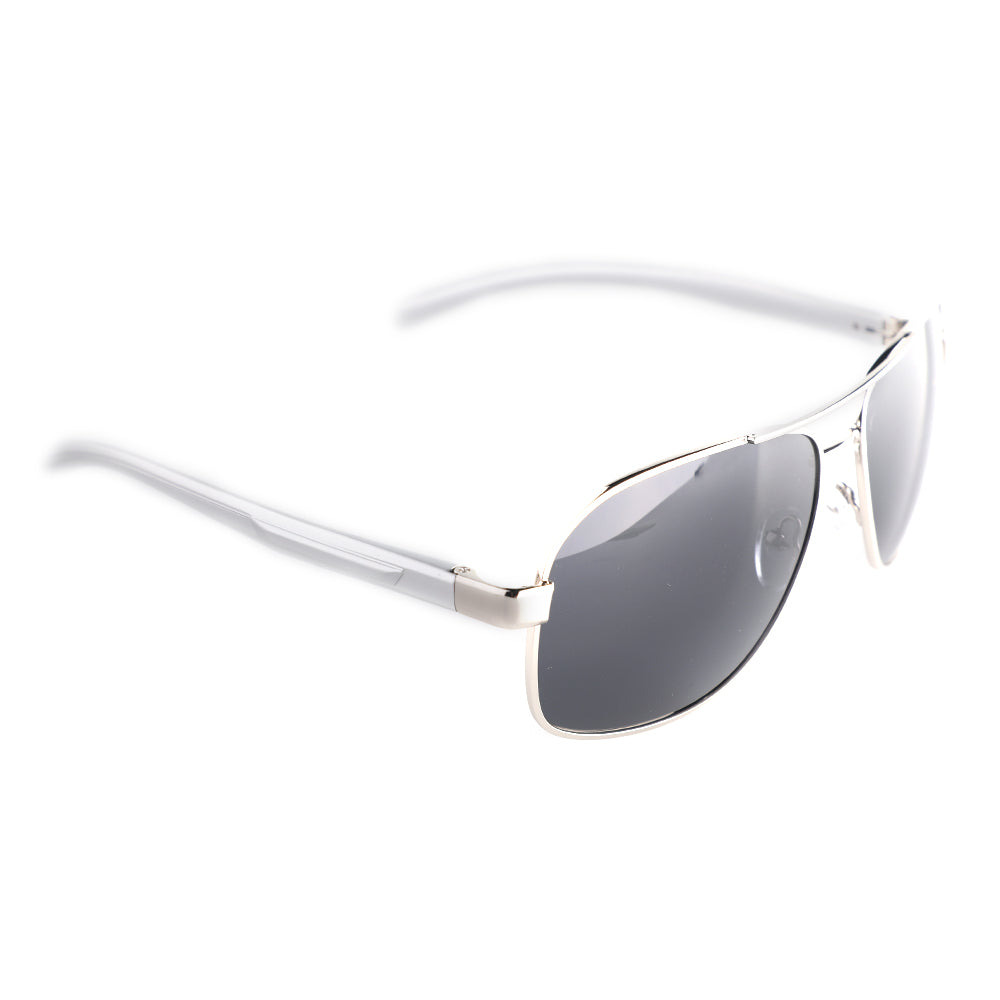 Black and Silver Aviator Square Specs