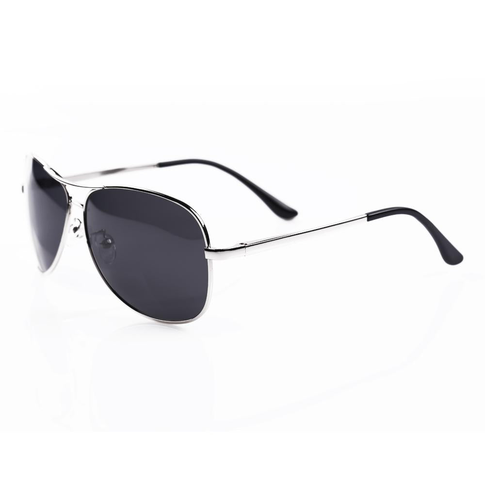 Black and Silver Aviator Specs