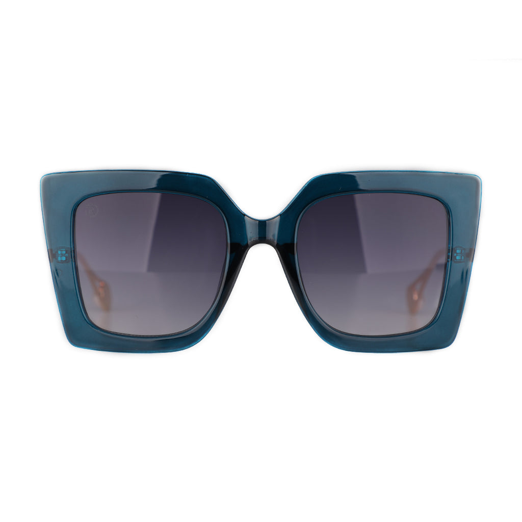 Blue Square Butterfly Specs