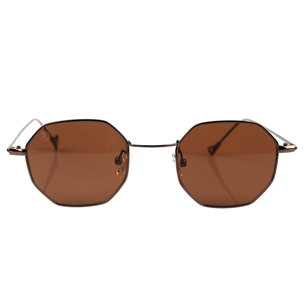 Brown Thin Hexagonal Specs