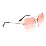 Pink Oversized Rimless Specs