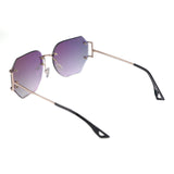 Purple Rimless Oversized Octagonal Specs