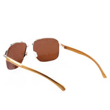 Brown Aviator Square Specs