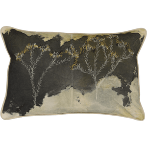 Metalasia Cushion Cover: Hand painted and stitched