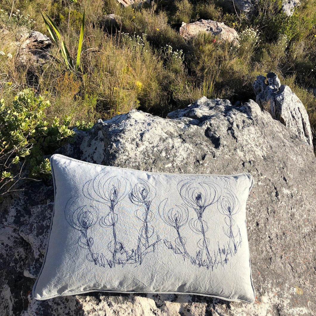 SALE Cushion Cover Stitched Leucadendron