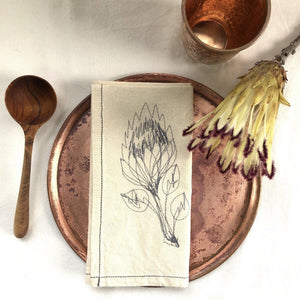 SALE Napkins (Protea HEMP)