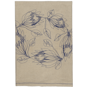 Protea Wreath Tea Towel / Hand Towel