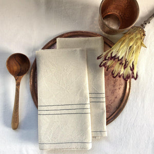 SALE Napkins Stripe (HEMP)