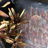 King Protea Cushion Cover (Printed)