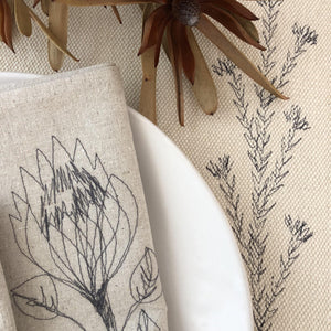HEMP Protea Napkins (set of 4)