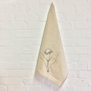 HEMP Protea Tea Towel / Hand Towel