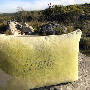 SALE Cushion Cover Lime BREATHE