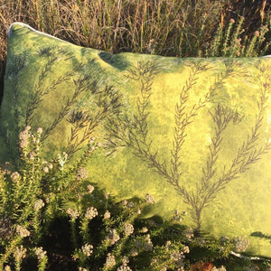 Chartreuse Metalasia Cushion Cover (Printed)