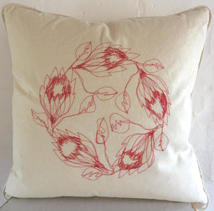 Protea Wreath Cushion Cover