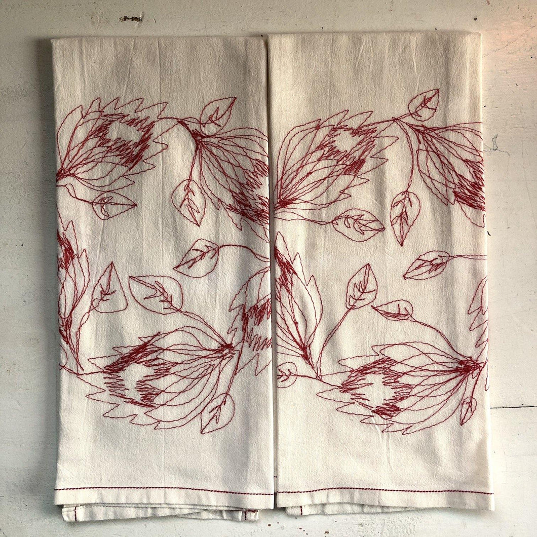 SALE Tea Towel / Hand Towel Protea Wreath (COTTON)
