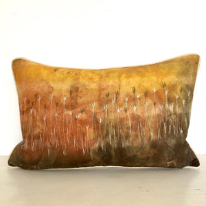 Bush Sunset Cushion Cover (Rust orange Velvet back)
