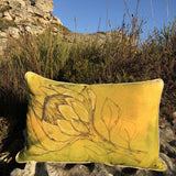 Chartreuse Protea Cushion Cover (Printed)