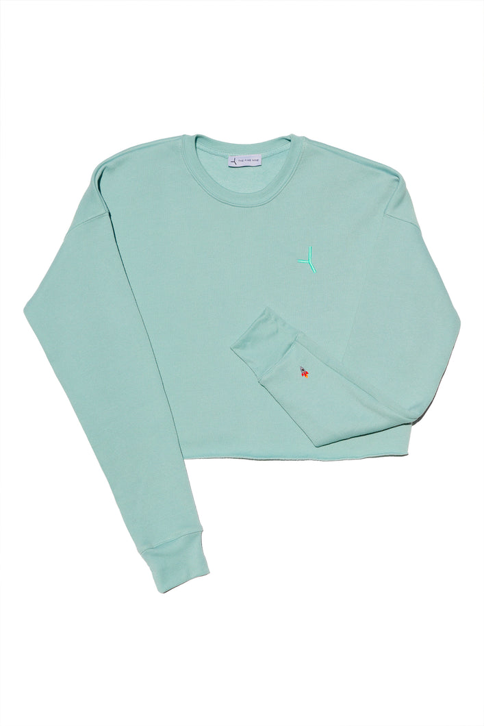 The Liftoff crop top sweatshirt - Soft green
