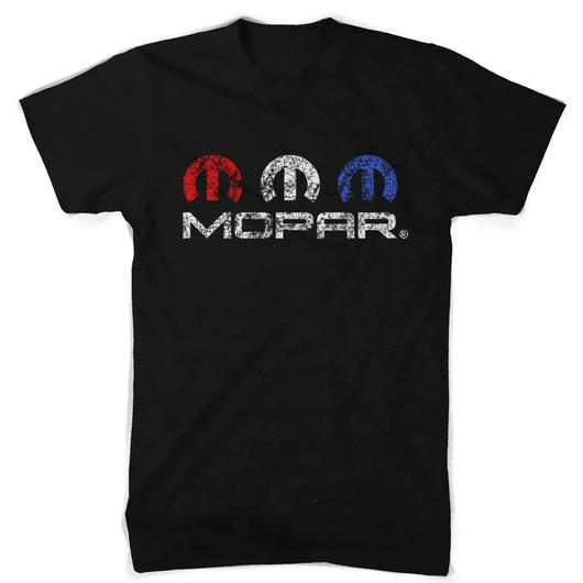 MOPAR RED WHITE AND BLUE T-SHIRT