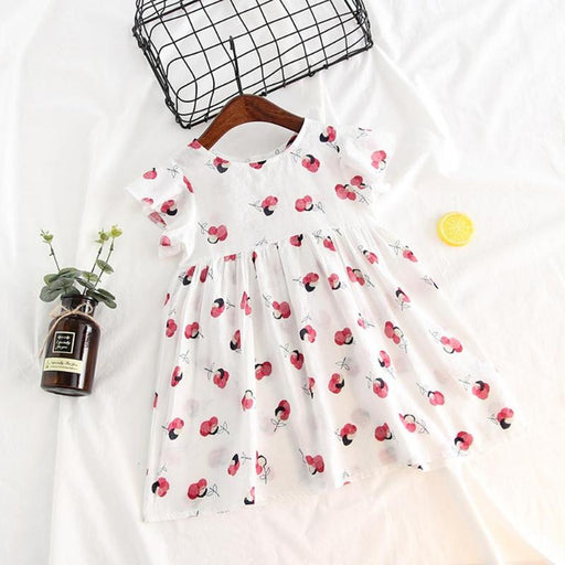 Kids Princess Dress For Party Casual Kids Baby A-Line Dresses Flower Print  Girls Cute 89ac82a70802