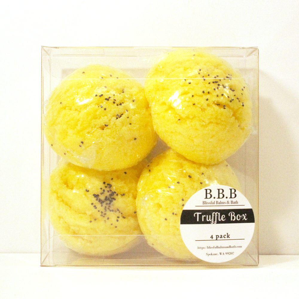 Load image into Gallery viewer, Lemon & Poppy Seed Bath Truffle (Bath Bomb)