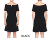 NOTCH FRONT SWING DRESS