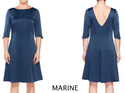 SWINGY BATEAU DRESS