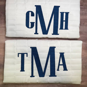 "Custom monogram/name (more than 8 letters, appliqué name or 4"" tall monogram )"