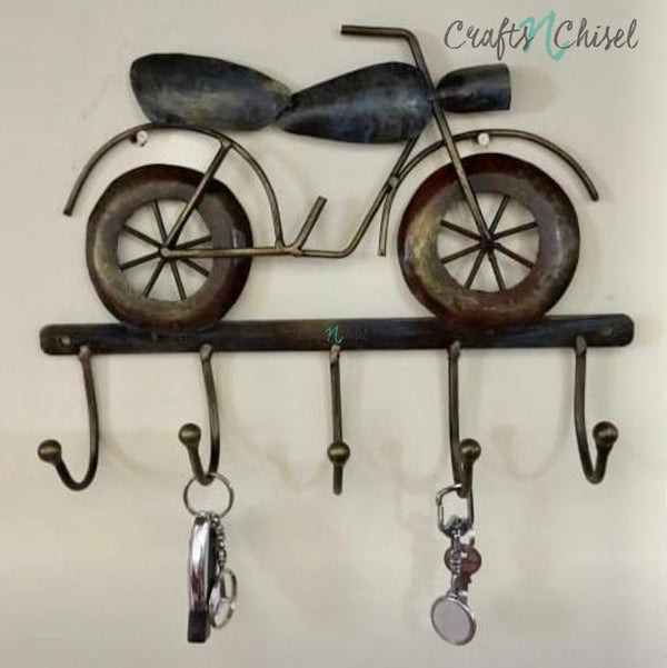 Iron Decorative Bike Key Hanger-Crafts N Chisel India - Indian home decor - India