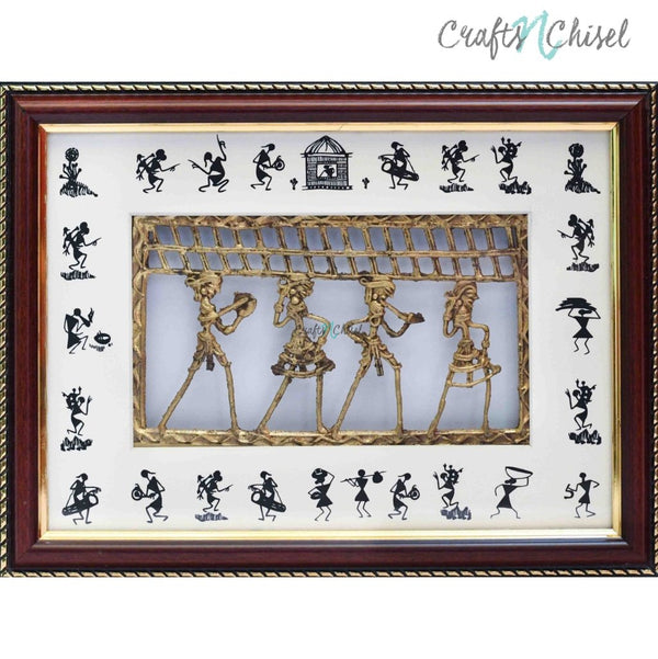 Dhokra & Warli Art Wall Hanging - Wall Decor - Home Decor-Crafts N Chisel India - Indian home decor - India