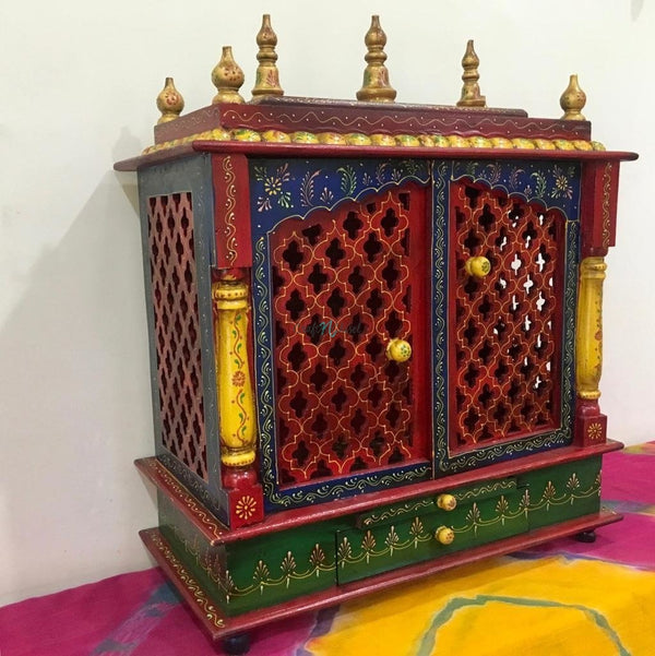Wooden Temple (Mandir)-Crafts N Chisel India - Indian home decor - India