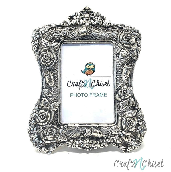 Silver Plated Antique Photo Frame - Home Decor - Decorative Gift item-Crafts N Chisel India - Indian home decor - India