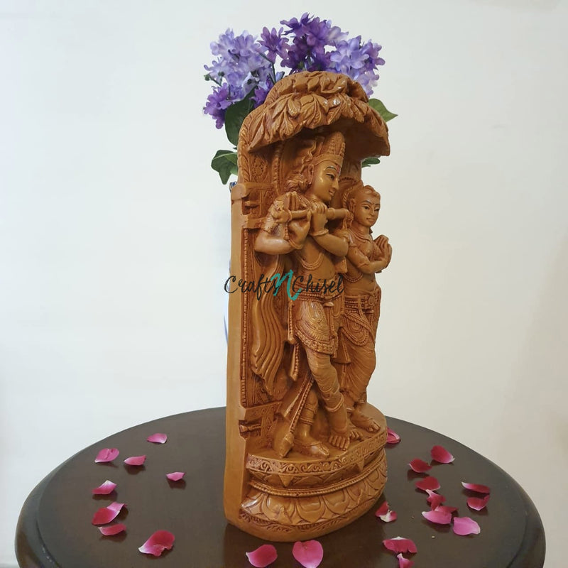 "16"" Idol of Radha Krishna - Symbol for Love - Decorative Figurines-Crafts N Chisel-Indian Handicrafts Online USA"