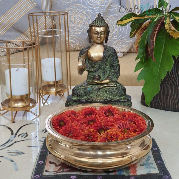 Buddha Idol and Urli Set-Crafts N Chisel India - Indian home decor - India