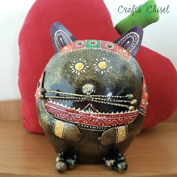 Cat Piggy Bank For Boys & Girls - Great Gift For Kids-Crafts N Chisel India - Indian home decor - India