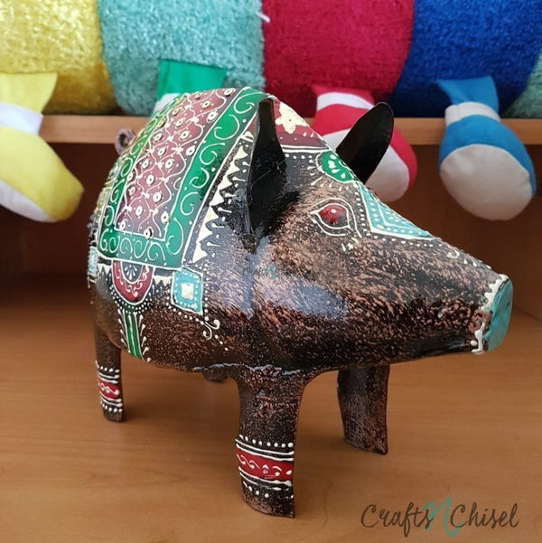 Piggy, Piggy Bank For Boys & Girls - Great Gift For Kids-Crafts N Chisel India - Indian home decor - India
