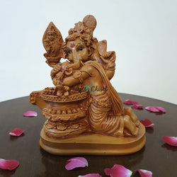 Lord Ganesha Idol With Shiv Ling - Decorative Figurines-Crafts N Chisel-Indian Handicrafts Online USA