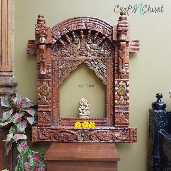 Decorative Wooden Jharoka - Wall Decor-Crafts N Chisel India - Indian home decor - India