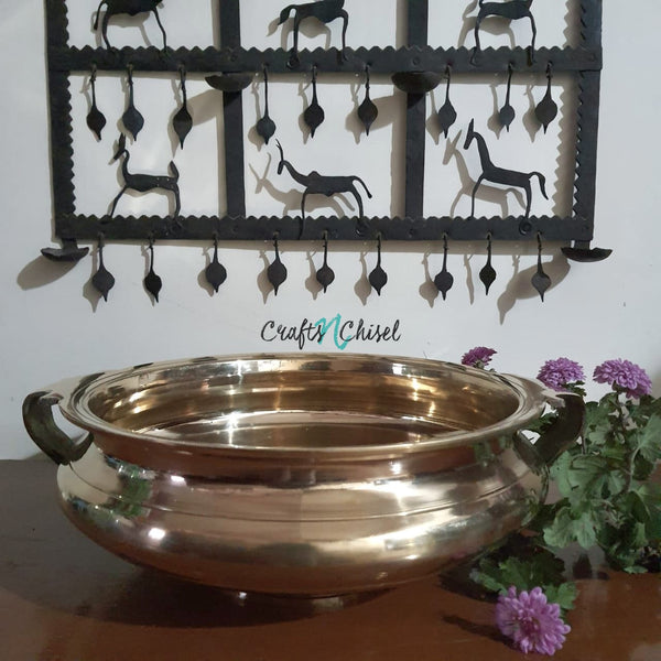 "12"" Decorative Brass Urli-Crafts N Chisel-Indian Handicrafts Online USA"
