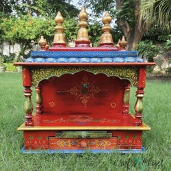 Wooden Temple (Mandir) - Open Design-Crafts N Chisel India - Indian home decor - India