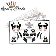 Load image into Gallery viewer, STICKY DIAMOND COLLABORATION DECAL -Villains- Maleficent