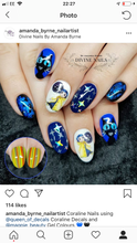 Load image into Gallery viewer, STICKY DIAMOND COLLABORATION DECAL Hand Drawn Coraline