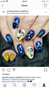 STICKY DIAMOND COLLABORATION DECAL Hand Drawn Coraline