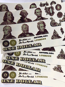 US Dollar bill elements
